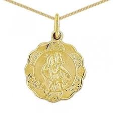 9ct gold st christopher and chain the