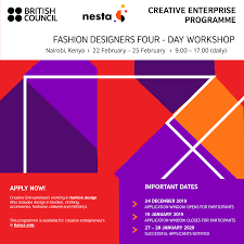 Best Fashion And Design Schools In Kenya Creative Enterprise Programme Workshop Nairobi Kenya