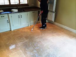 Kitchen Floor Cleaning Soiled Limestone Kitchen Floor Deep Cleaned And Sealed In Crookham