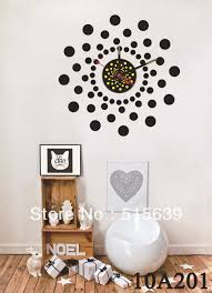 Small Picture DIY Vinyl Wall Stickers Clock Big Black Point Home Decoration