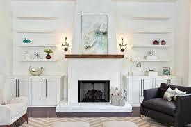 modern wood fireplace mantel shelf shelves living room black white ds walnut lounge chairs fireplace mantel