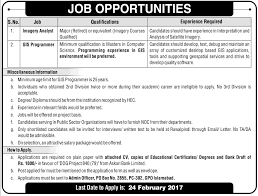 Imagery Analyst And Gis Programmer Jobs In Islamabad 2017