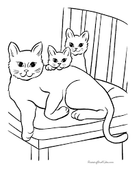 Free Cat Page to Print and Color | cat,'s pic | Cat coloring page ...