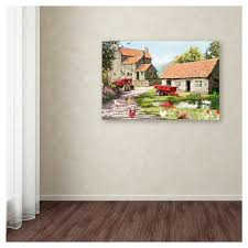 on framed canvas wall art target with farmyard by the macneil studio ready to hang canvas wall art target