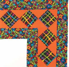 Diamond Star Squares Quilt Border Pattern | HowStuffWorks & ©2007 Publications International, Ltd. The Diamond Star Squares Quilt Border  Pattern is perfect for experimenting with fun fabrics. Adamdwight.com