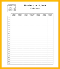 Free Online Weekly Planner Template Then Meal Free Printable