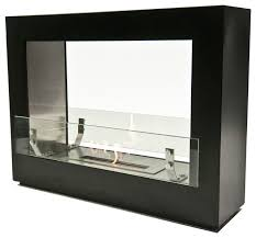 the bio flame rogue 2 0 free standing see through ethanol fireplace indoor fireplaces