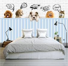 dog wallpaper for walls. Delighful Dog Cute Dog 3d Wallpaper Pet Paradise Photo Custom Wall Mural  Store Kids Bedroom Living Room Nursery Decor Teddy Colorful  Throughout For Walls S