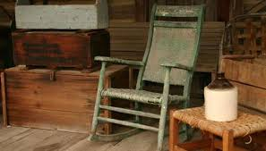 an old rocking chair in an antique