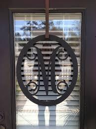 Door Initials & Monogram Door Hanger Wedding Monogram Letter Door ...