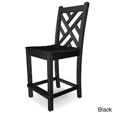 chippendale side chair. POLYWOOD Chippendale Polyethylene Counter Side Chair - Free Shipping Today Overstock 20451655