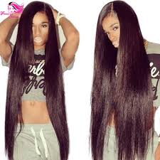Middle Split Hair Style hotsale 180 density middle part human u part wig straight hair 6553 by wearticles.com