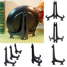 Large Plate Display Stands Black Plastic Plate Display Stand Picture Frame Easel Holder 51