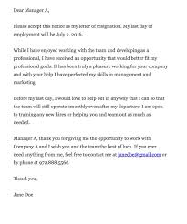 Resignation Letter Resignation Letter Due To Management After