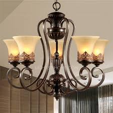 5 light chandeliers for kitchen wrought iron material