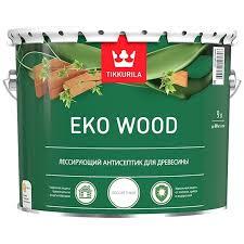 <b>Антисептик</b> лессирующий <b>Tikkurila</b> Eko Wood бесцветный 9 л ...