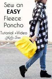 Fleece Poncho Pattern With Hood New How To Sew A Fleece Poncho DIY Poncho Tutorial Melly Sews