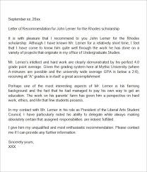 Recommendation Letter For Student Scholarship Pdf Sample Letter Of Recommendation For Scholarship 29 Examples In
