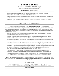 Personal Resume Template Personal Assistant Yralaska Com