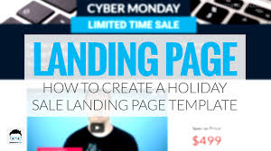 sale page template how to create a holiday sale landing page template youtube