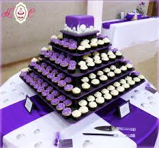 Purple White Wedding Purple White Wedding Cupcake Tower