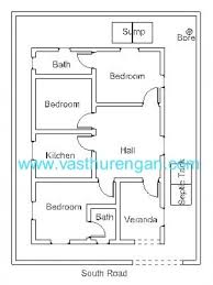 house plan for south facing plot with two bedrooms fresh east facing house vastu plans the