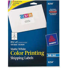 Avery 3 1 3 X 4 Template Avery Inkjet Labels For Color Printing 3 1 3 X 4 Matte White 120 Pk