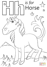 Small Picture Coloring Pages Letter H Is For Horse Coloring Page Free Printable
