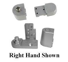 kawneer style offset pivot hinge for glass front aluminum commercial door