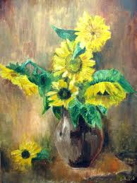sunflowers oil painting flowers painting fl art still life painting by anna lubchik