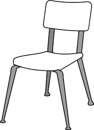 Modren School Chair Drawing Gorgeous Chairs Clipart White Throughout Decorating Ideas