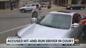 Woman critically injured in hit and run crash attends suspect's ...