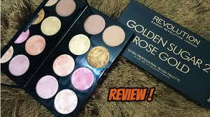 makeup revolution golden sugar 2 rose gold blush palette review swatches
