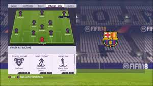 FIFA 18 Custom Tactics - Pep Guardiola's Barcelona Formation In Online  Seasons. - YouTube