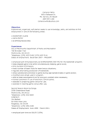 Awesome Collection Of File Clerk Resume Template Also Grocery