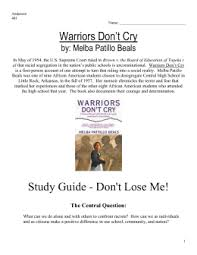 warriors don`t cry study guide