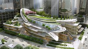 architecture building design. Sledding Path To Loop Around Roof Garden Of Beijing Civic Centre By Andrew Bromberg Architecture Building Design