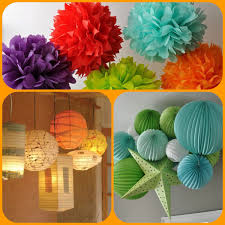 colourful paper lantern chandeliers