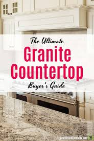 gray granite countertops in luxury kitchen text overlay ultimate granite countertops er s guide