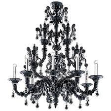 barovier toso six light taif black murano glass chandelier 5350 6c in