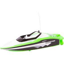 rc mini race boat green