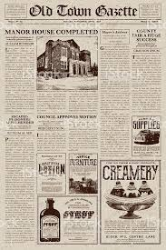 Old Fashion Newspaper Template A Vector Illustration Of An Old Fashioned Newspaper In A