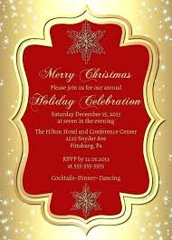 Formal Christmas Party Invitation Templates Salabs Pro