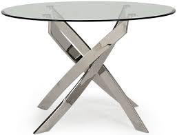 vida living kalmar glass top round dining table 110cm