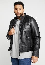 tonic big leather jacket black