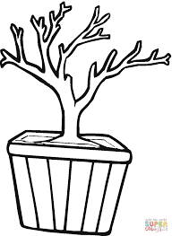Small Picture Bonsai in a Pot coloring page Free Printable Coloring Pages