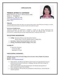 Example Of Resume To Apply Job Proyectoportal Com