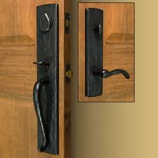 Front Door Hardware Craftsman Solid Bronze Entrance Set With Lever Handle Intended Beautiful Design