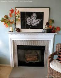 diy stencil and pattern ideas for stylish fireplace makeovers and updated mantles royal design studio