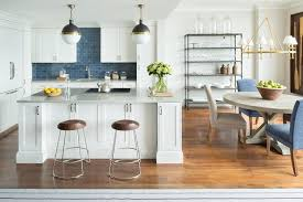 kitchen backsplash blue subway tile. White Kitchen With Blue Backsplash Subway Tile L